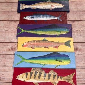 Pallet Board Handpaintes Fish- Wall Decor